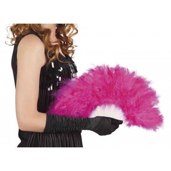Burlesque waaier roze Carnavalskostuum winkel Verkleedaccessoires