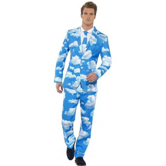Business suit met wolken print