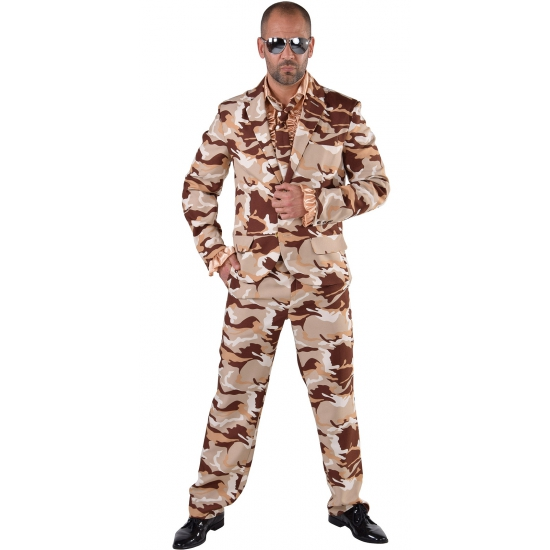 Camouflage kostuum 3-delig voor heren