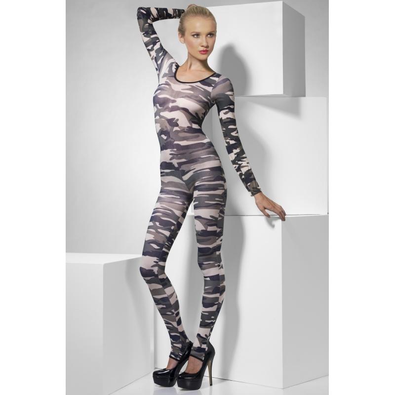 Camouflage print dames kostuum