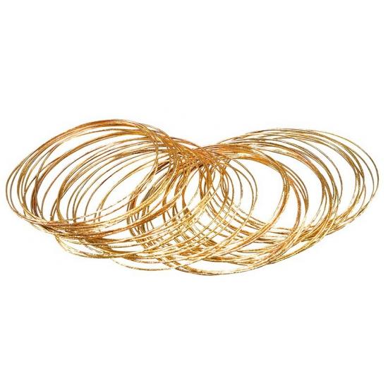Carnaval 50 gouden bangle armbanden Carnavalskostuum winkel Verkleedaccessoires