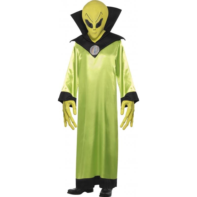 Carnaval Alien kostuum met masker
