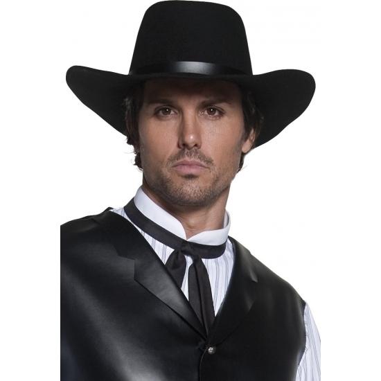 Carnaval Authentieke zwarte cowboyhoed Smiffys Het leukste