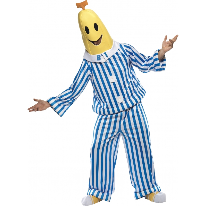 Carnaval Bananen in pyjama kostuum volwassen