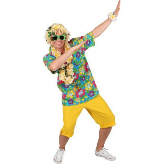 Landen kostuums Carnaval Blauw hawaii shirt