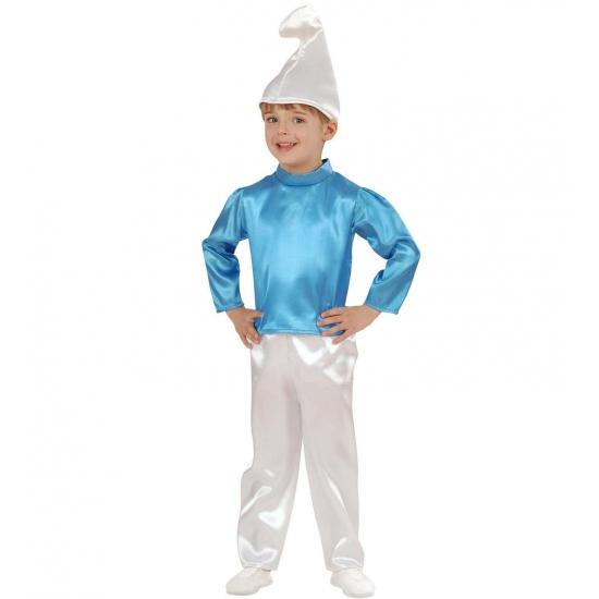 Carnaval Blauw kabouter kostuum kinderen