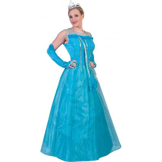 Carnaval Blauwe prinsessenjurk voor dames