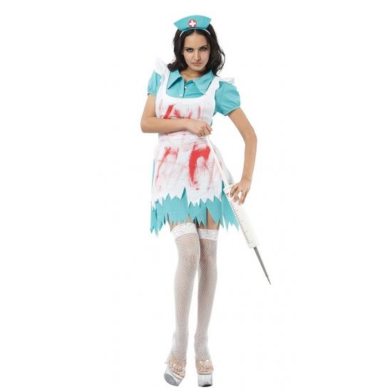 Carnaval Bloederige zuster kostuum dames