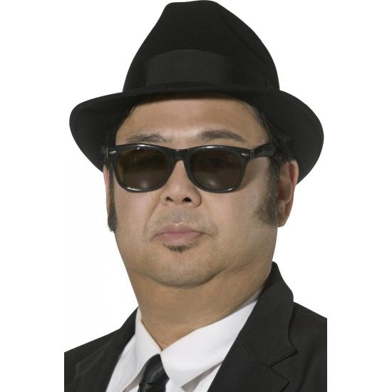 Feest hoeden Smiffys Carnaval Blues Brothers hoed zwart