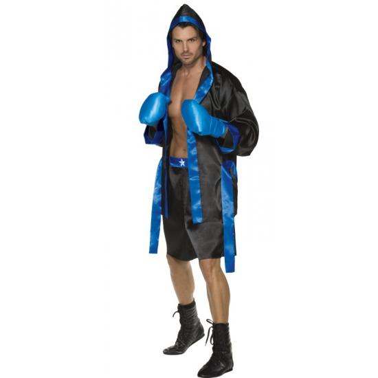 Carnaval Bokser kostuum heren blauw