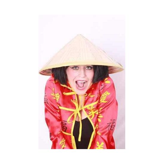 Carnaval Chinese stro hoed Geen Feest hoeden