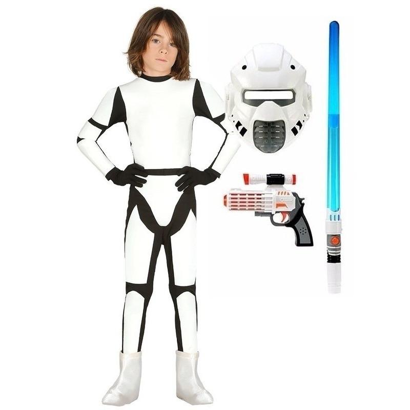 Carnaval Compleet Space trooper kostuum maat 110-116 voor kinderen