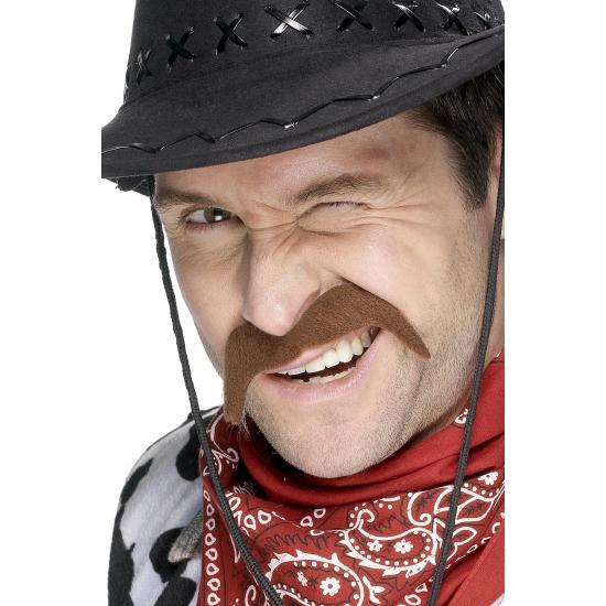 Carnaval Cowboy Snor Bruin