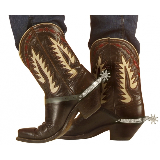 Carnaval Cowboy Sporen Zilver