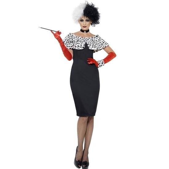 Carnaval Cruella kostuum voor dames