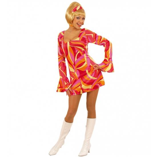 Carnaval Dames jurkje met seventies print