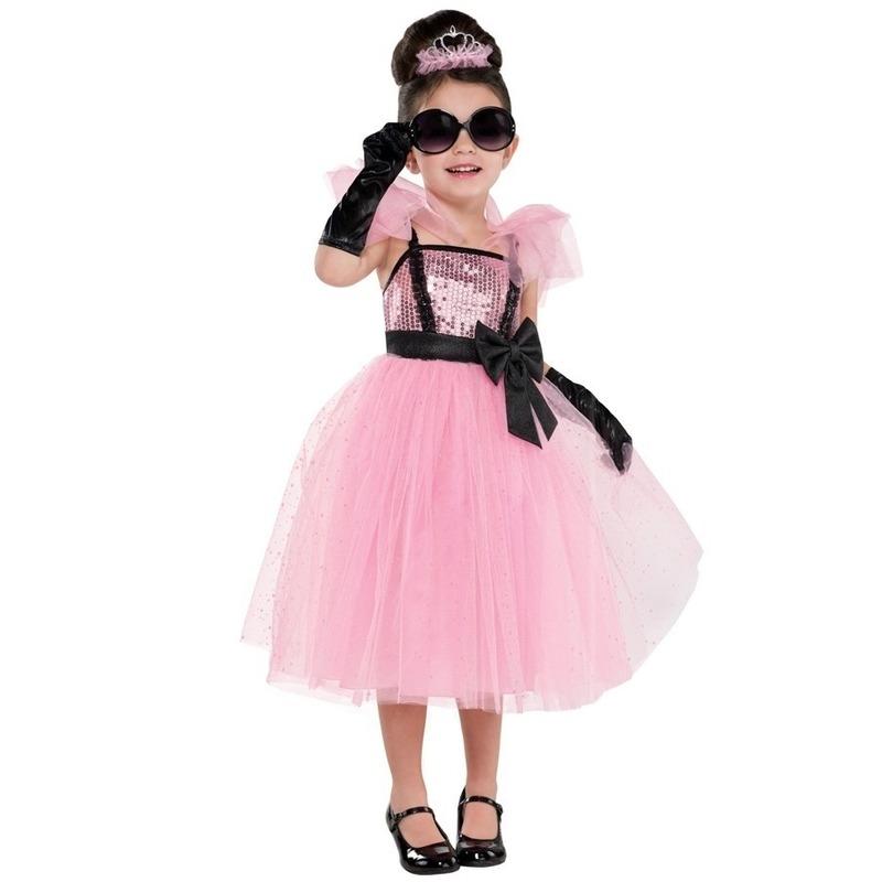 Carnaval Diva glam prinses/prinsessen jurk kostuum voor meisjes