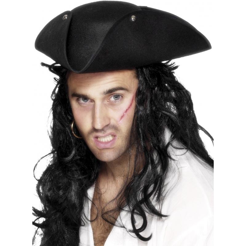Carnaval Driehoekige piratenhoed Geen Feest hoeden