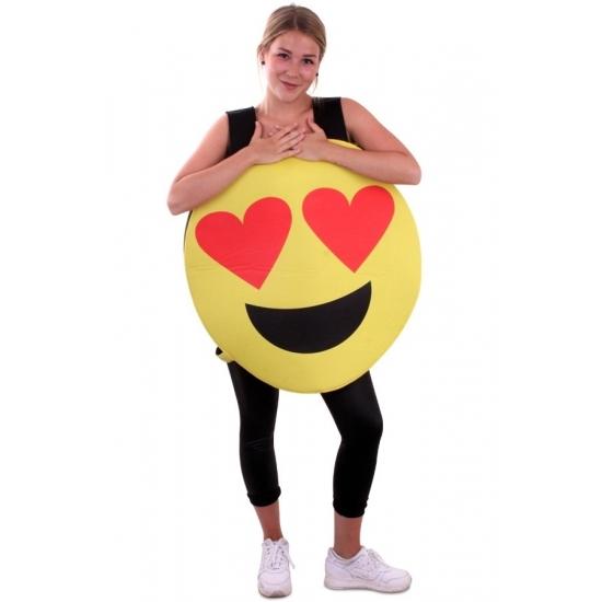 Carnaval Emoticon kostuum hartjes ogen voor volwassenen