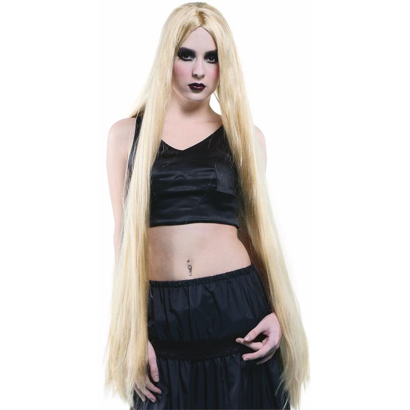 Carnaval Extreem Lange Pruik Blond Haar