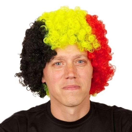 Pruiken Carnaval Fan pruik Belgie of Duitsland
