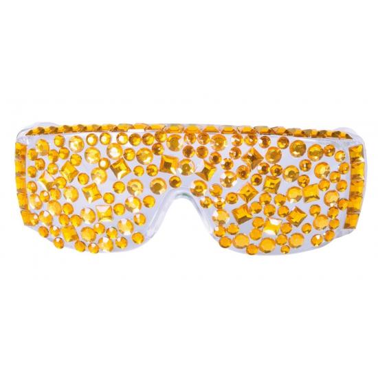 Carnaval Feest bril met gouden steentjes Geen Premier