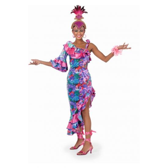 Landen kostuums Carnaval Fleurige salsa jurk