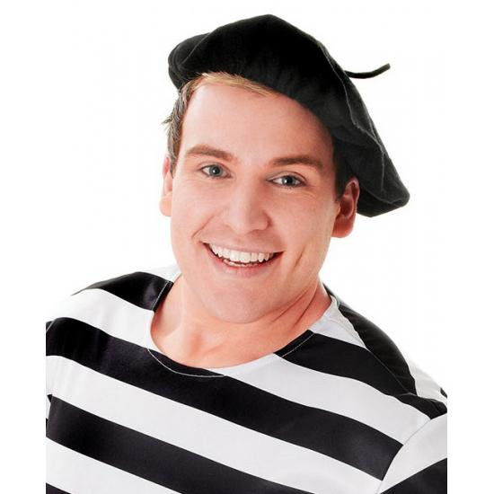 Carnaval Franse baret zwart Carnavalskostuum winkel Feest hoeden