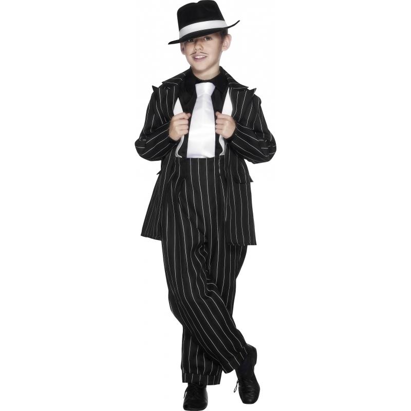 Beroepen kostuums Smiffys Carnaval Gangster kostuum voor kinderen