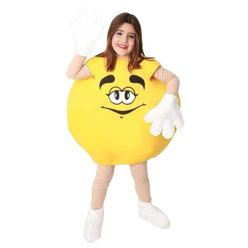 Carnaval Geel snoep kostuum voor kinderen