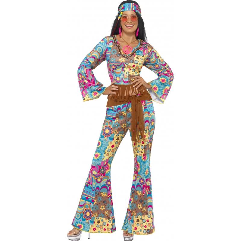 Carnaval Gekleurde flower power kleding
