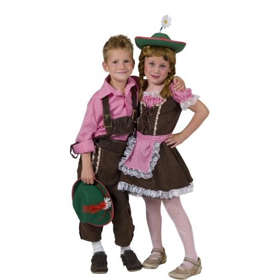 Carnaval geruit overhemd voor kinderen Carnavalskostuum winkel Oktoberfest kostuums