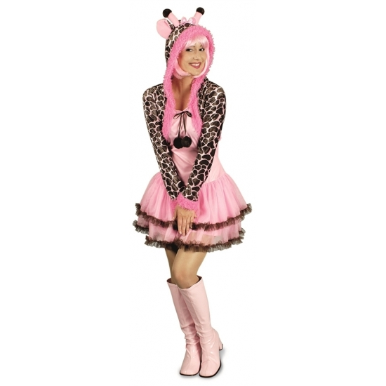 Carnaval Giraffe jurkje voor dames