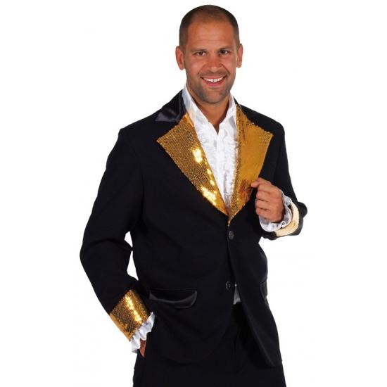 Carnaval Glitter colbert zwart/goud