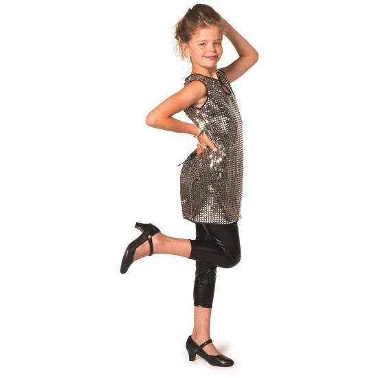 Carnaval Glitter jurk zilver meisjes