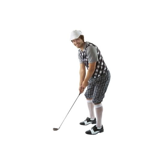 Carnaval Golf kostuum zwart voor heren