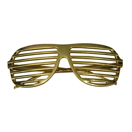 Carnaval Gouden lamellen bril