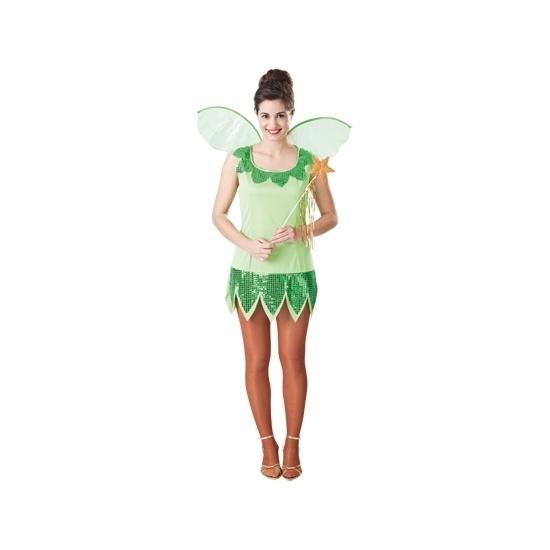 Carnaval Groen elf jurkje voor dames
