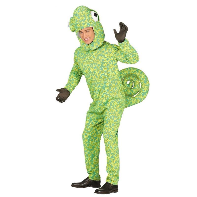 Carnaval Groen kameleon kostuum voor volwassenen