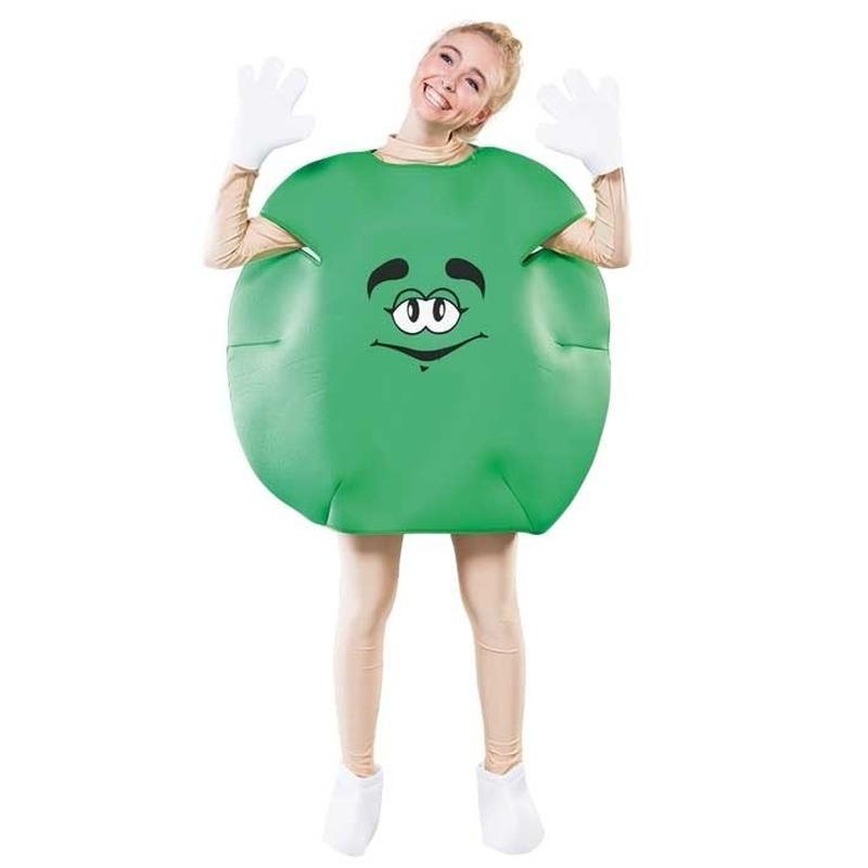 Carnaval Groen snoep kostuum