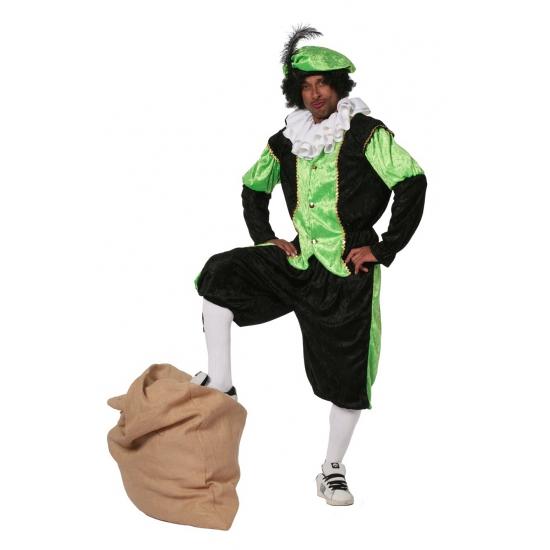 Carnaval Groene zwarte pieten kostuum budget