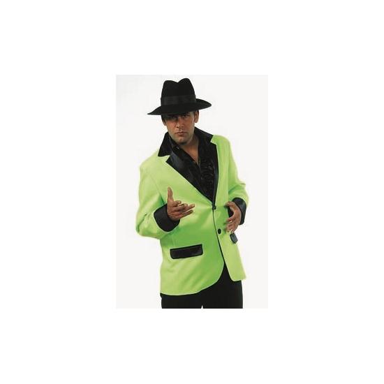 Carnaval Heren colbert lime groen