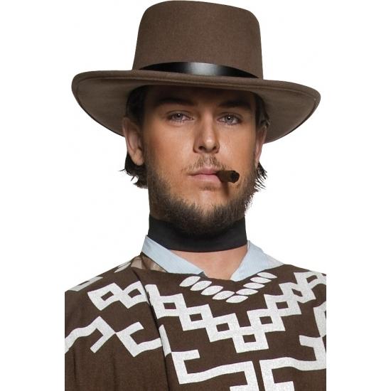 Feest hoeden Geen Carnaval Heren cowboy hoed bruin