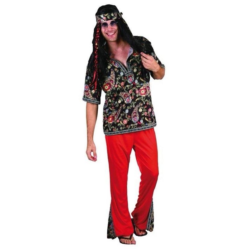 Carnaval Heren verkleedkleding hippie