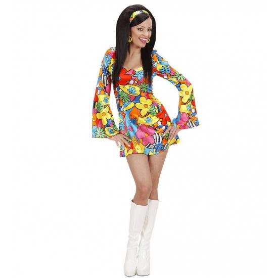 Carnaval Hippie jurkje met bloemen