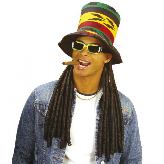 Carnaval Hoge rasta hoed met dreadlocks Carnavalskostuum winkel Goedkoop