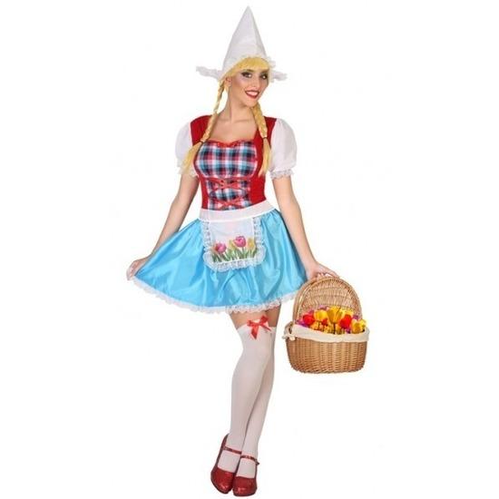 Carnaval Hollands meisje kostuum 3-delig voor dames
