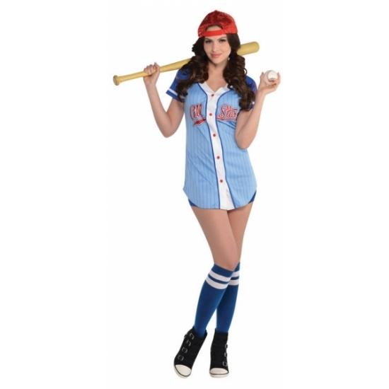 Carnaval Honkbalspeler kostuum voor dames