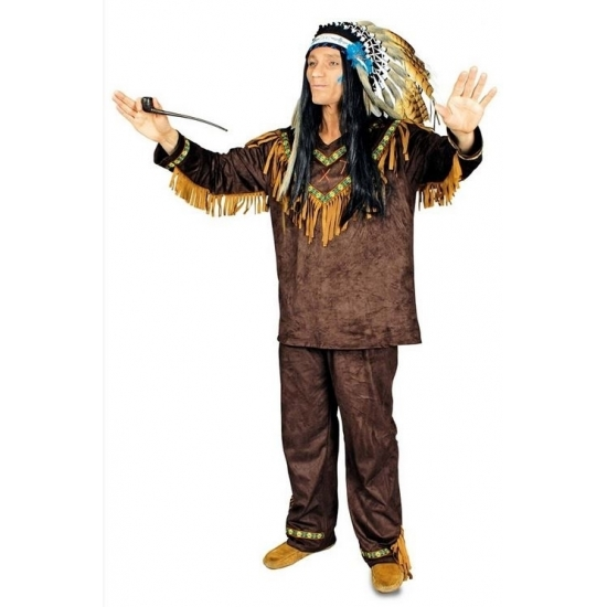 Carnaval Indianen kostuum Hania voor heren