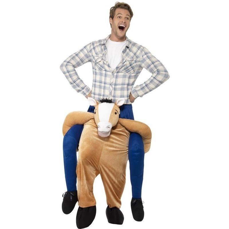 Carnaval Instap dierenpak kostuum paard voor volwassenen
